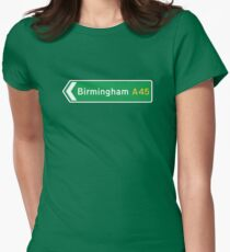 Birmingham, Road Sign, UK  Women's Fitted T-Shirt