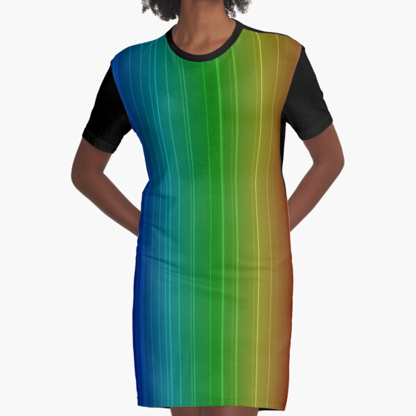 Spectral Lines of Krypton Graphic T-Shirt Dress