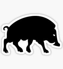 sanglier boar gallic gaulois ardennes Sticker