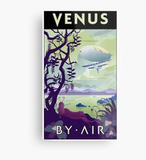 Venus By Air Travel Poster Metal Print