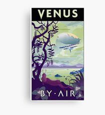 Venus By Air Travel Poster Canvas Print