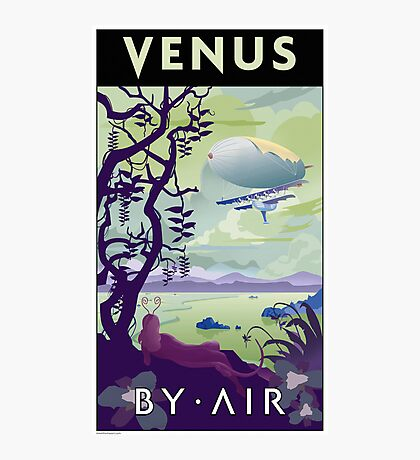 Venus By Air Travel Poster Photographic Print