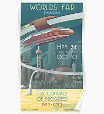 Futuristic Earth Travel Poster Poster
