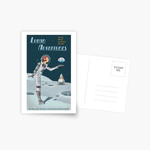 Moon Travel Poster Postcard