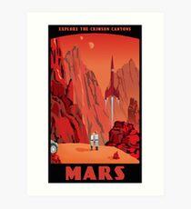 Lámina artística Cartel de viaje de Marte