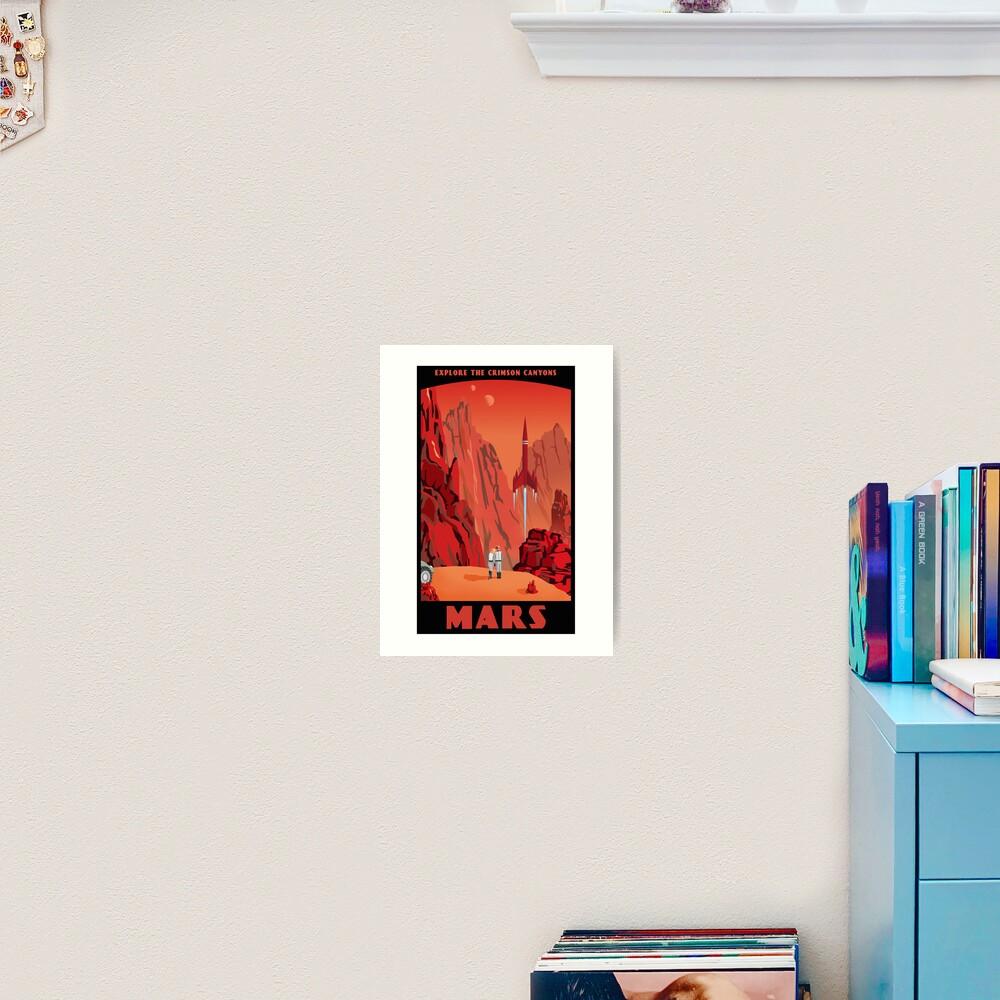 Mars Travel Poster Art Print