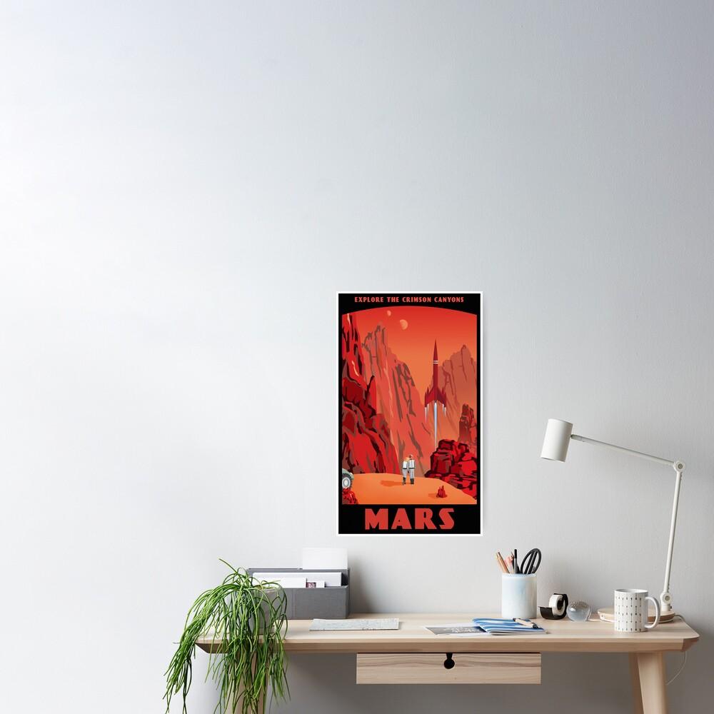 Mars Travel Poster Poster
