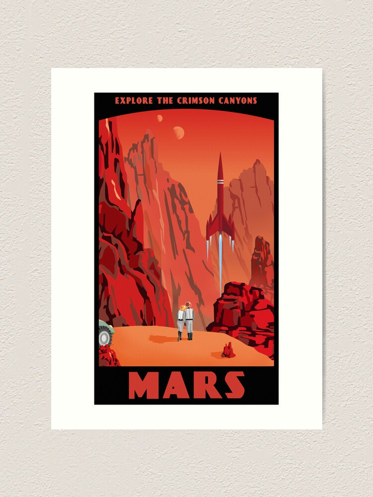Alternate view of Mars Travel Poster Art Print