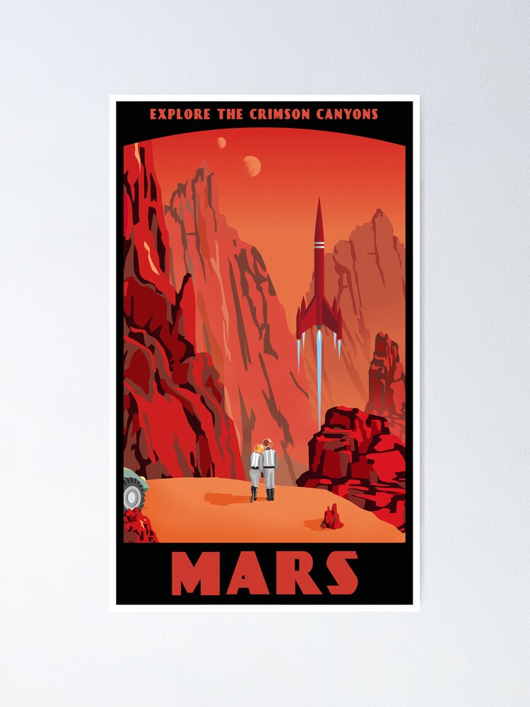 Alternate view of Mars Travel Poster Poster
