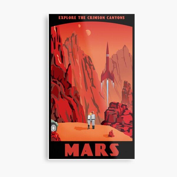 Mars Reise Poster Metallbild
