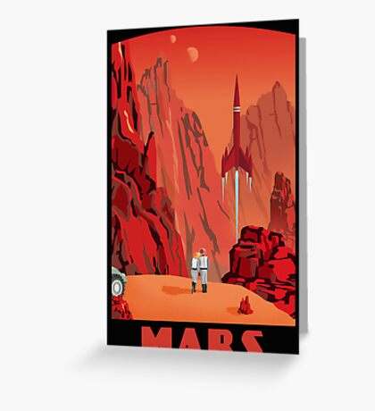 Mars Travel Poster Greeting Card