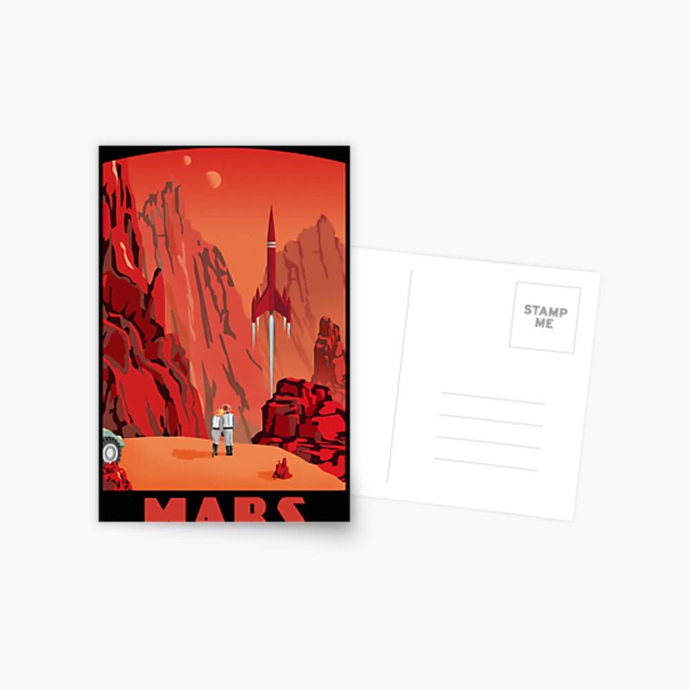 Mars Travel Poster Postcard