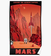 Mars Reise Poster Poster