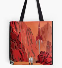 Mars Travel Poster Tote Bag