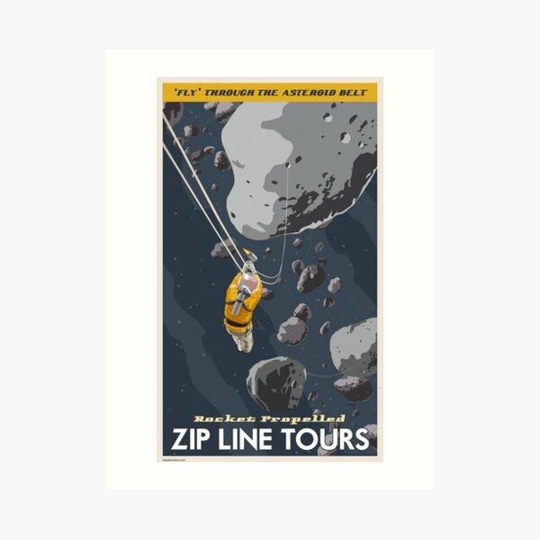 Asteroids Travel Poster Art Print