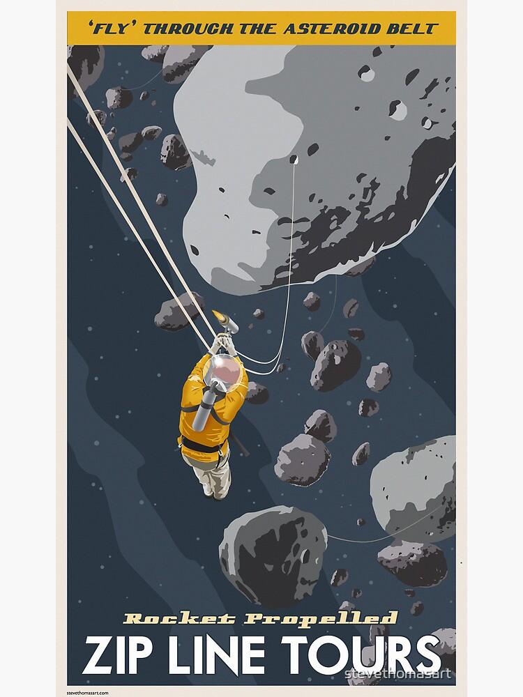Asteroids Travel Poster by stevethomasart