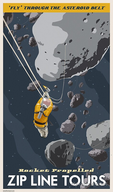 Quot Asteroids Travel Poster Quot By Stevethomasart Redbubble