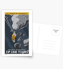 Asteroids Travel Poster Postcards