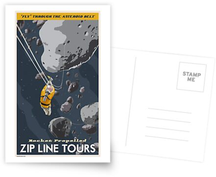 Asteroids Travel Poster von stevethomasart