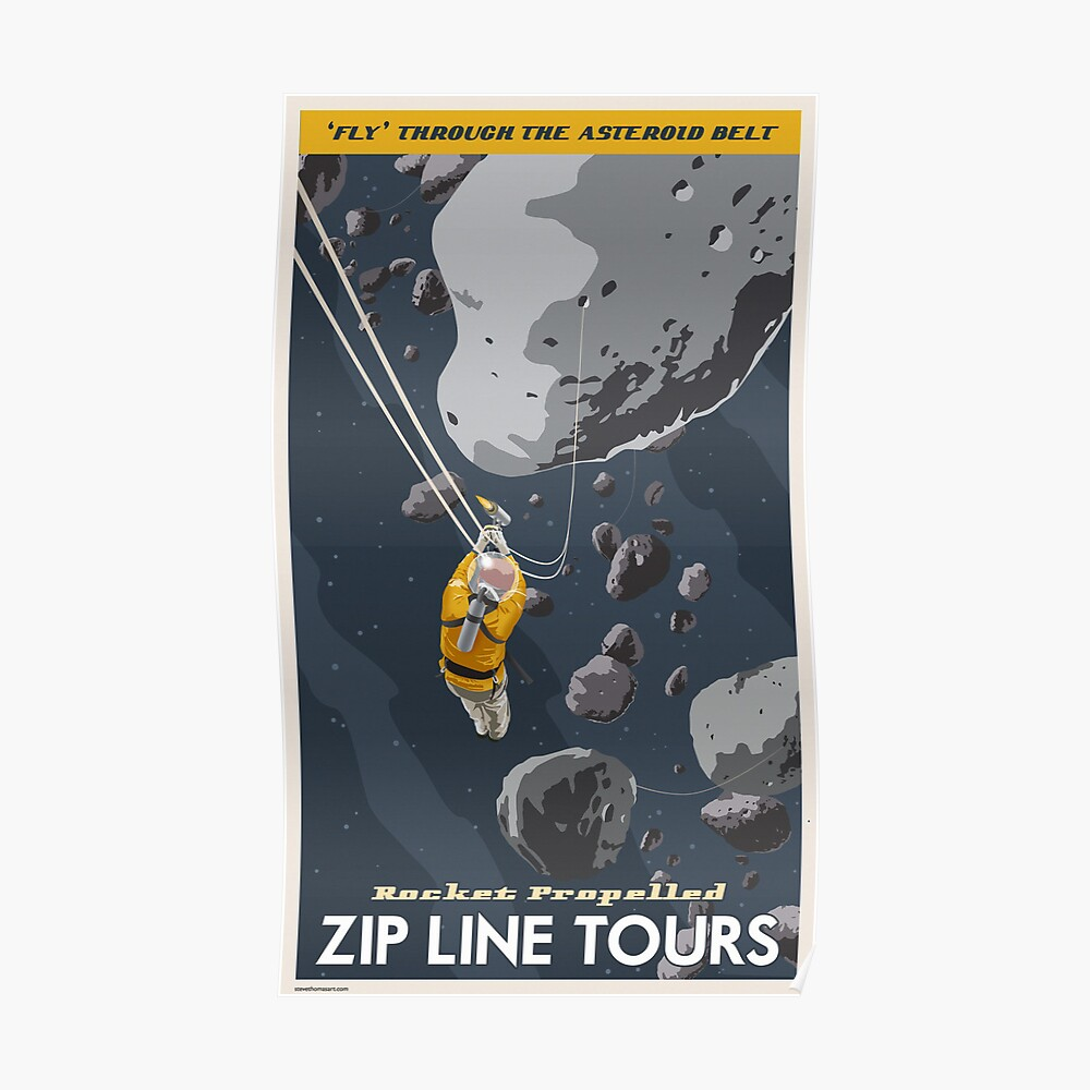 Asteroids Travel Poster Poster