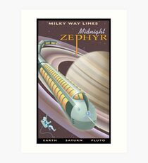 Saturn Travel Poster Art Print