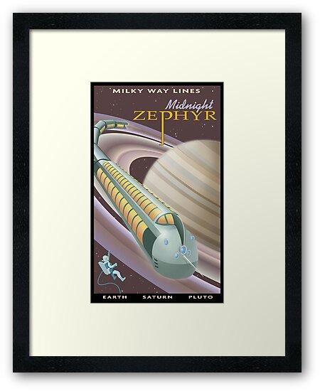 Saturn Travel Poster by stevethomasart
