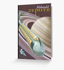 Saturn Travel Poster Greeting Card