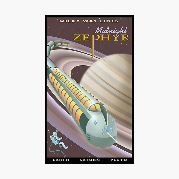 Saturn Travel Poster Photographic Print