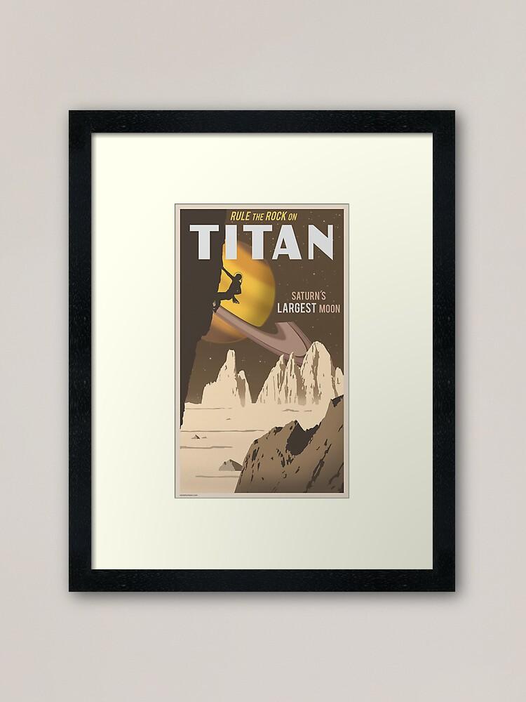 Alternate view of Titan Travel Poster Framed Art Print