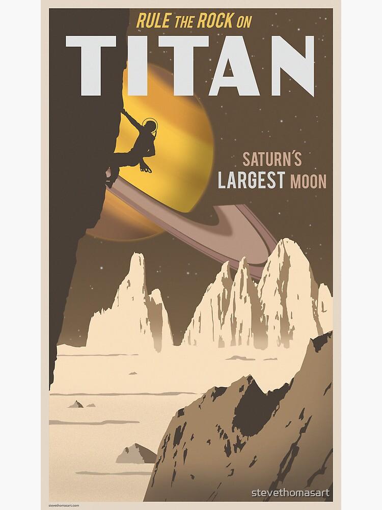 Titan Travel Poster by stevethomasart