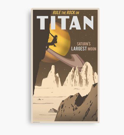 Titan Travel Poster Canvas Print