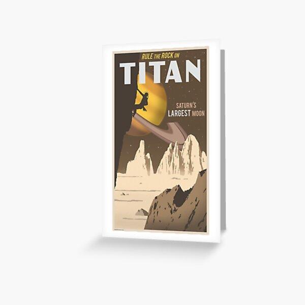 Titan Reiseplakat Grußkarte