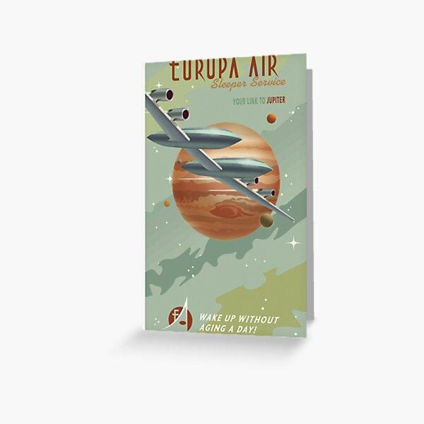 Jupiter Travel Poster Greeting Card