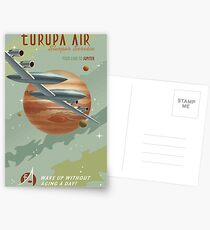 Jupiter Travel Poster Postcards