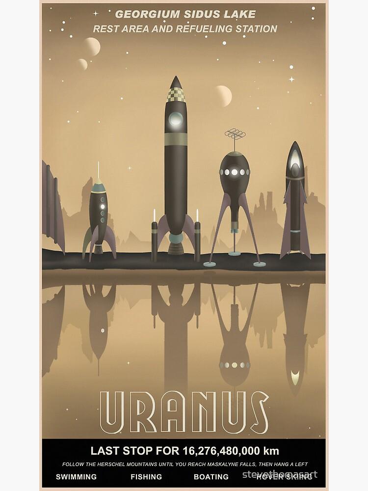 Uranus Travel Poster by stevethomasart