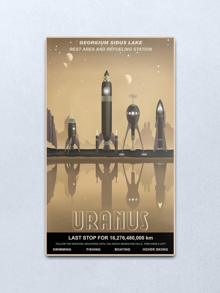 Alternate view of Uranus Travel Poster Metal Print