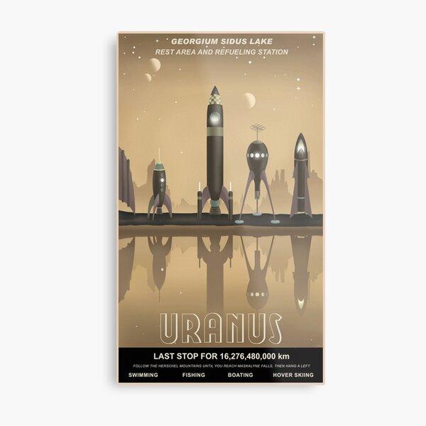 Uranus Travel Poster Metal Print