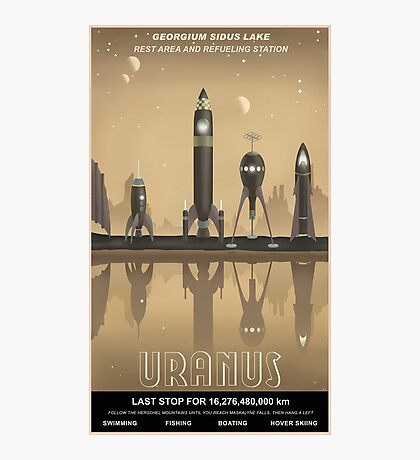 Uranus Travel Poster Photographic Print