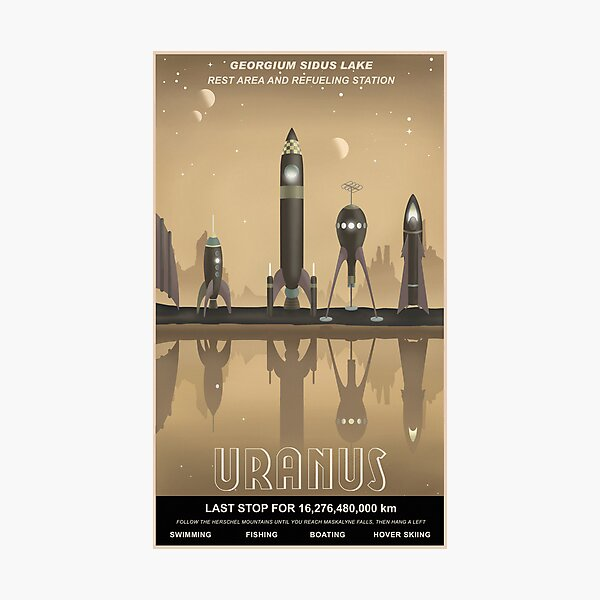 Uranus Travel Poster Photographic Print
