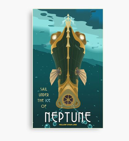 Neptune Travel Poster Canvas Print