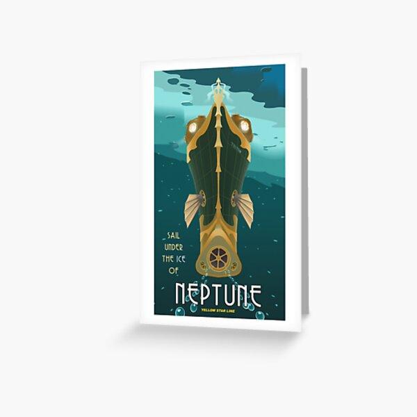Neptune Travel Poster Greeting Card