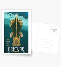 Neptune Travel Poster Postcards