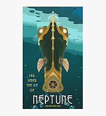 Neptune Travel Poster Photographic Print
