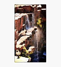 Rock Waterfalls  Western Australia Photographic Print