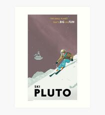 Pluto Travel Poster Art Print
