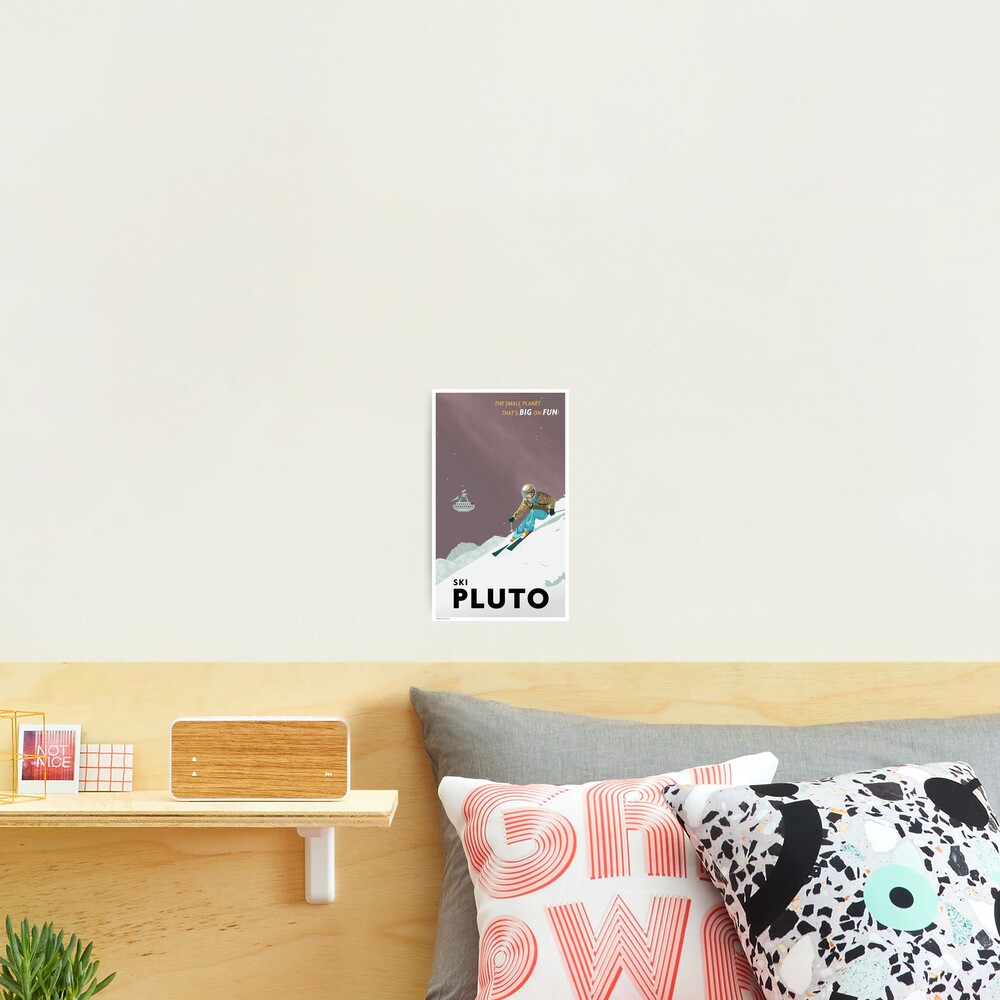 Pluto Travel Poster Photographic Print