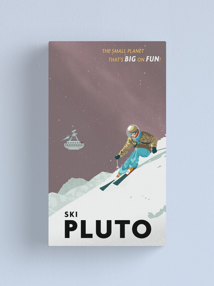 Alternate view of Pluto Travel Poster Canvas Print