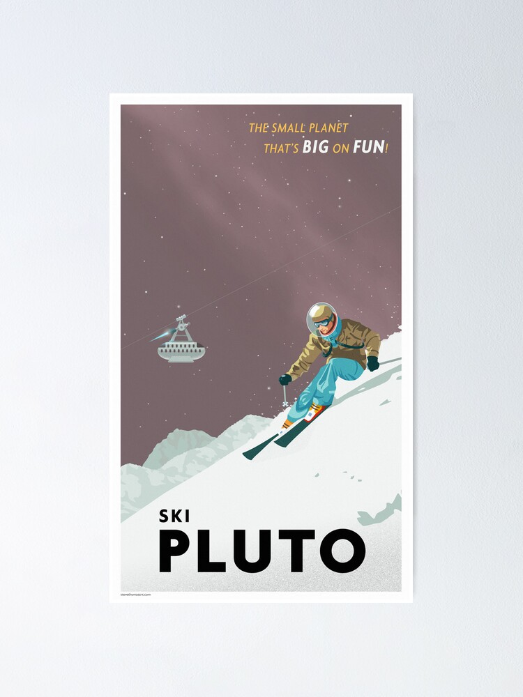 Alternate view of Pluto Travel Poster Poster