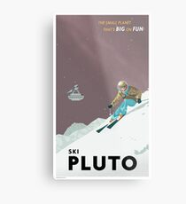 Pluto Travel Poster Metal Print
