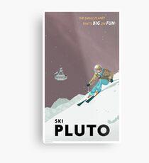 Lienzo metálico Cartel de viaje de Plutón